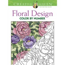 Creative HavenR Floral Design Color By Number Coloring Book